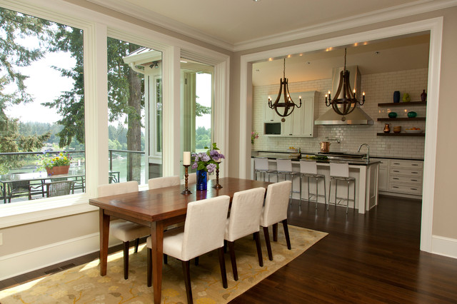 Riverfront Transitional Dining Room Portland By