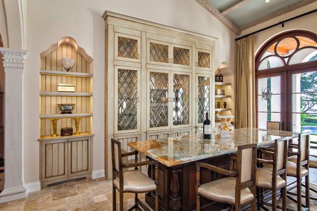 Riverfront Villa Mediterranean Dining Room Miami