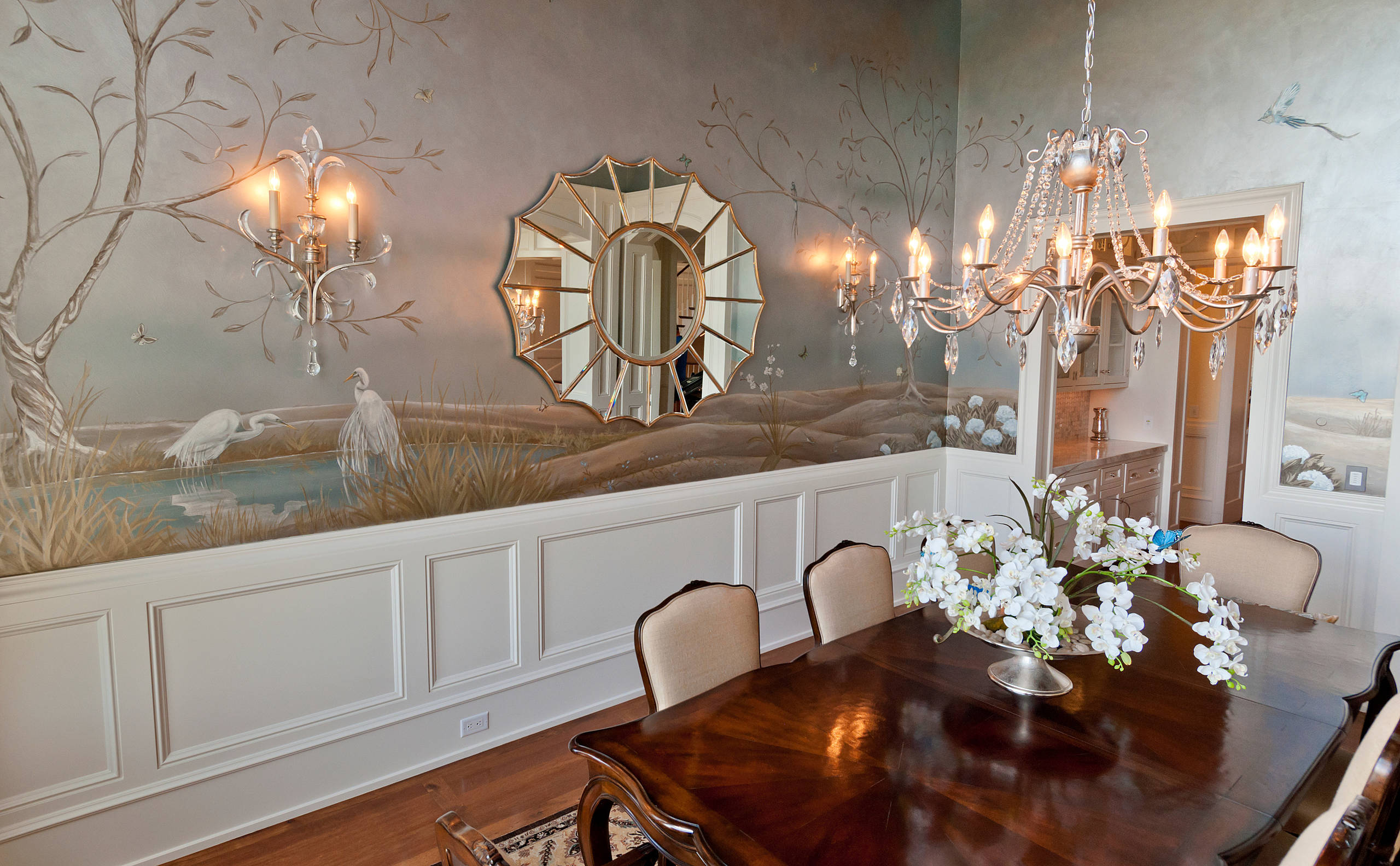 Dining Room Mural Houzz, Dining Room Murals Pictures