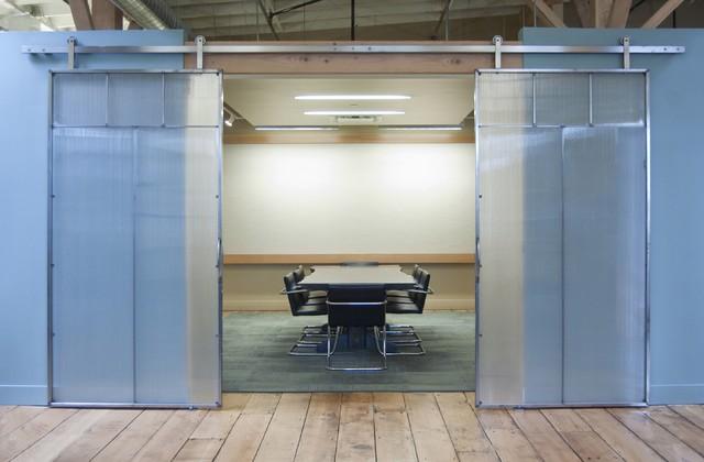 ROB ROY Sliding Door Hardware industrial-dining-room