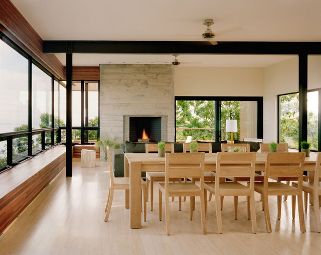 modern dining room by Robert Young Architects