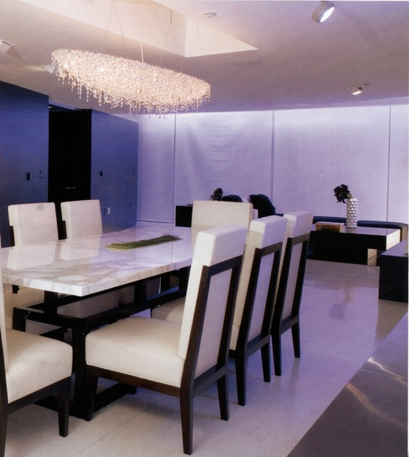 installation contemporary dining room miami by robicara design