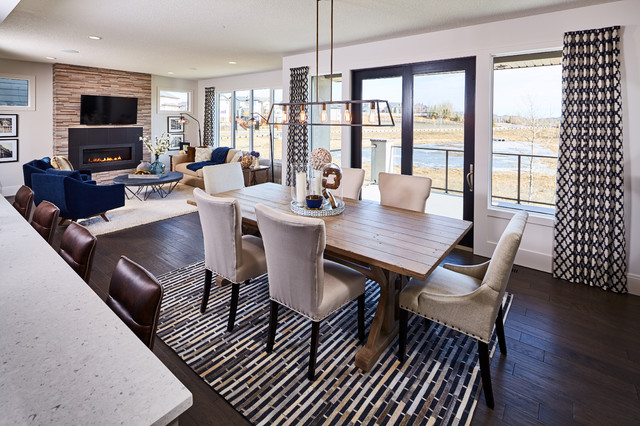 Rock Lake Show Home Phase 4 Transitional Dining Room Calgary By Lupi Luxury Homes