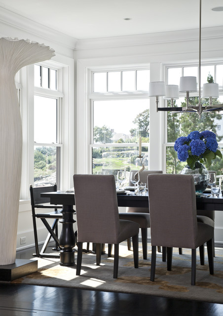rocky ledge dining table classique chic salle manger boston par lda architecture. Black Bedroom Furniture Sets. Home Design Ideas
