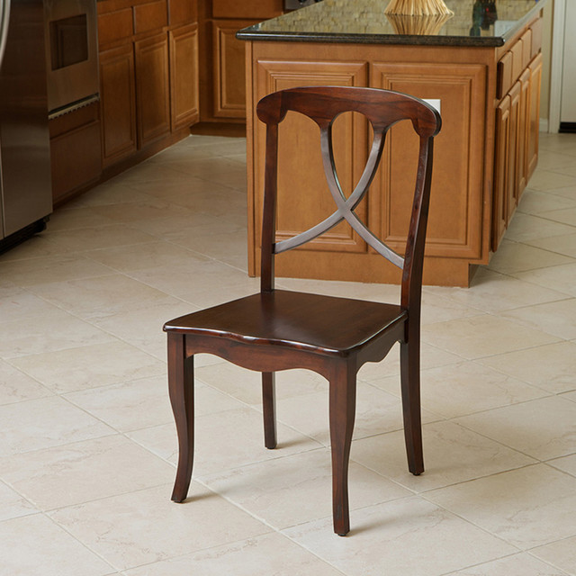 rogers crossback acacia wood dining chair modern