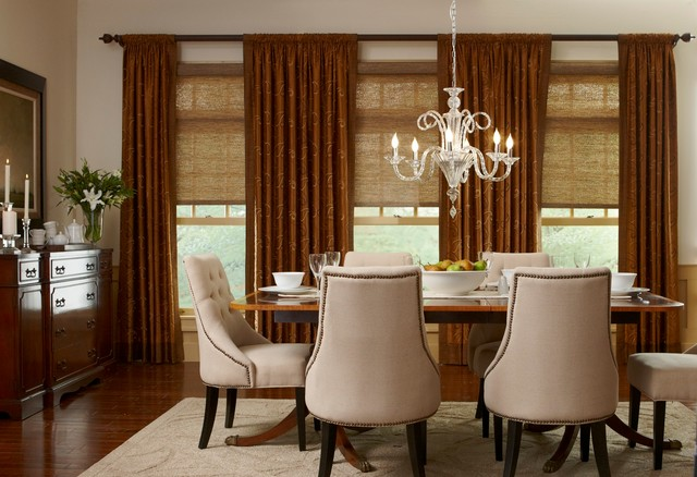 Roller shades eclectic-dining-room