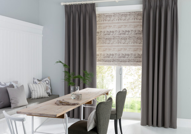 Roman Blinds And Curtains Contemporary Dining Room Other By Hillarys Houzz Uk