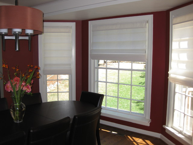 Anchor Blinds Window Treatments Roman Shades Contemporary Dining Room