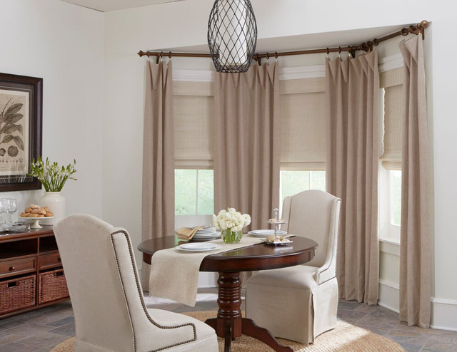 Roman Shades Transitional Dining Room Providence By Budget Blinds Of Franklin And