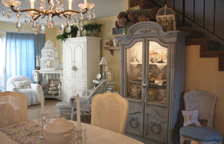romantic home shabby-chic-style-dining-room