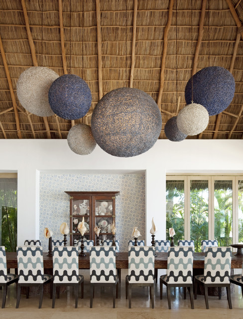 Rooms to Inspire by the Sea by Annie Kelly beach homes houses eclectic-dining-room