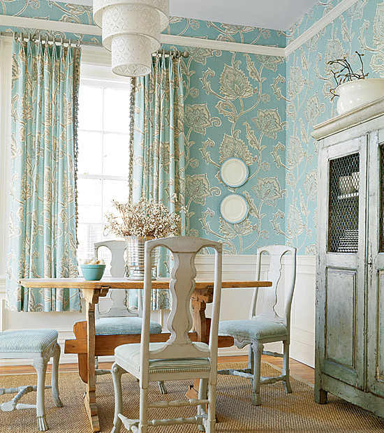 rooms using lots of wallpaper traditional dining room