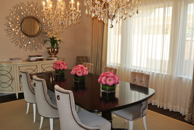 Inspiration For A Contemporary Dining Room Remodel In Dallas