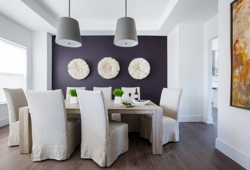 1. Paint A Purple Accent Wall