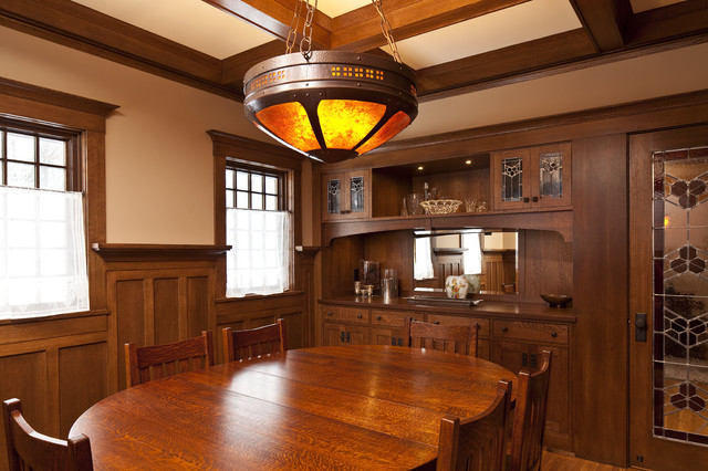 rosehill craftsman dining room other metro by seavey builders