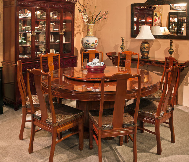 Rosewood furniture dining room asian