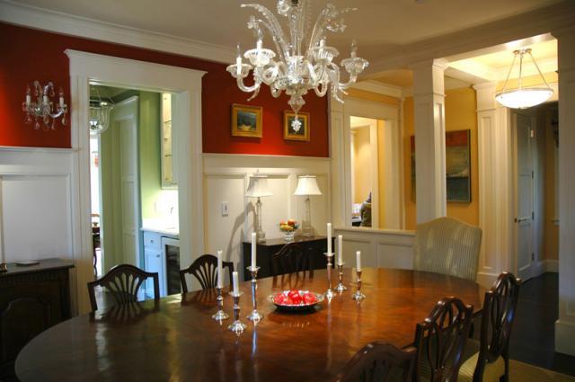 David ludwig studios traditional dining room san for Traditional red dining room