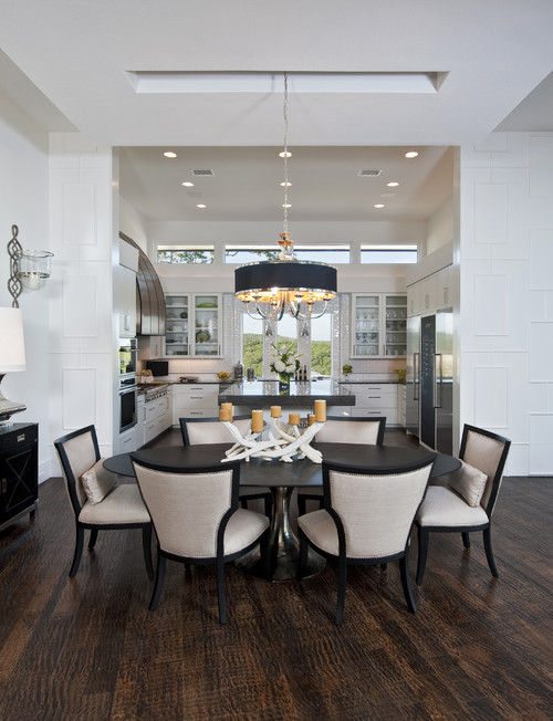 Kit dr open but separate spaces photos for Dining room tables houzz