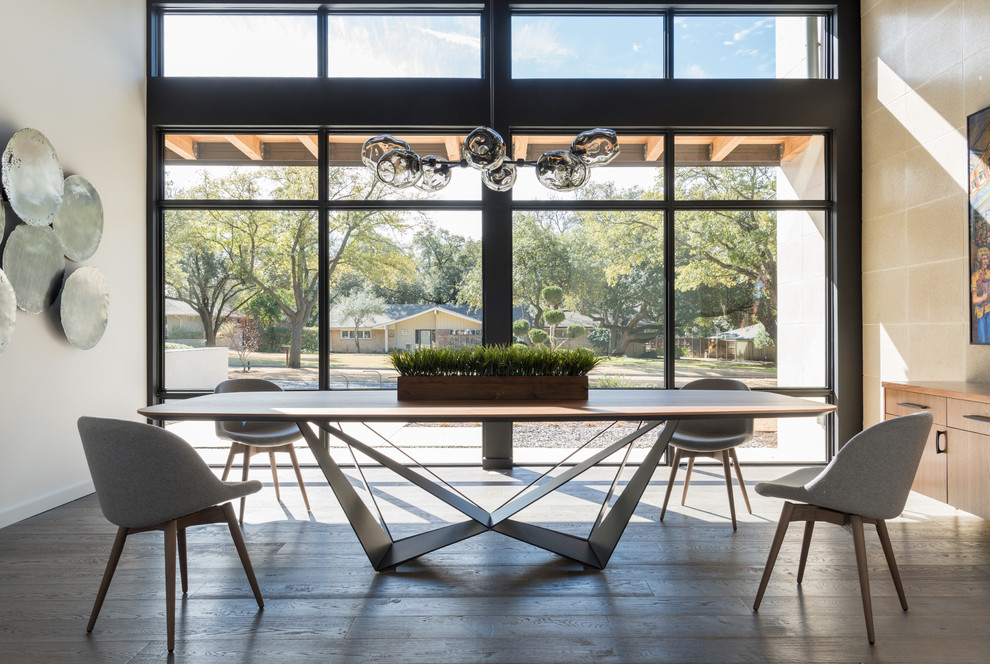 Example of a trendy dining room design in Dallas
