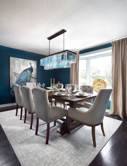 Color of the month decorating with peacock abode for Peacock dining room ideas