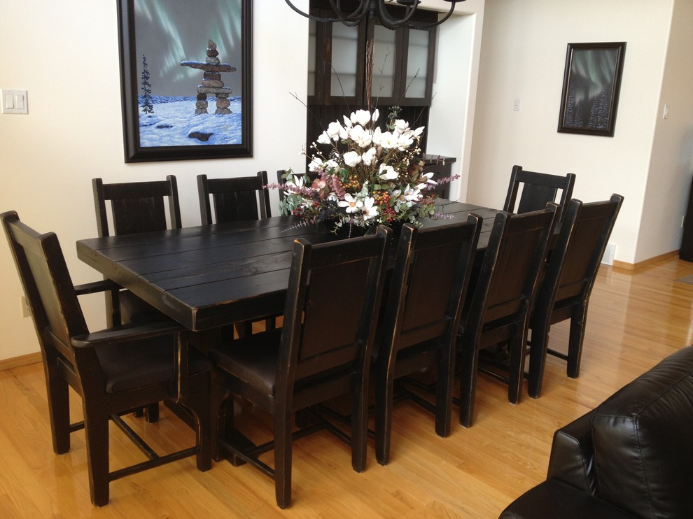Rustic Barn Wood Dining Set with Buffet and Hutch - Rustic ...