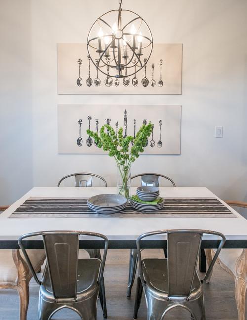 chaises en aluminium pour un style brut et industriel