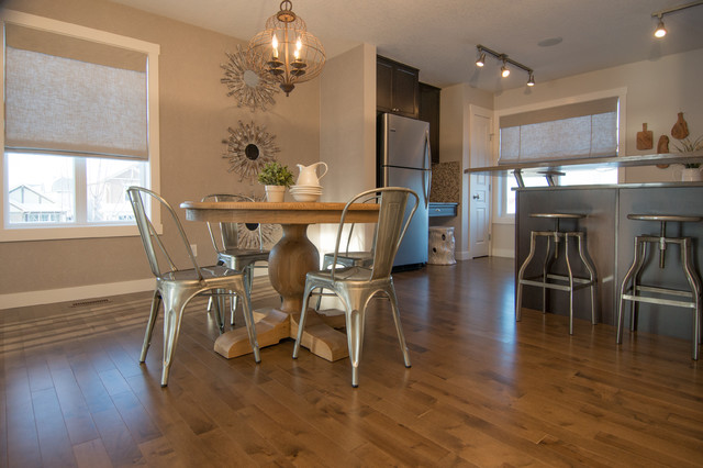 rustic chic  eclectic  dining room  calgary  by alykhan velji, Lighting ideas