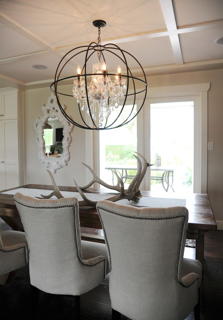 Rustic Chic Rancher Contemporary Dining Room