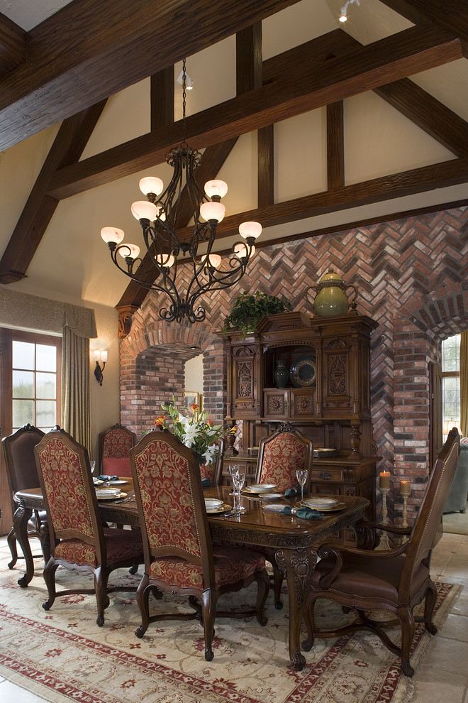 Example of a mountain style enclosed dining room design in Other