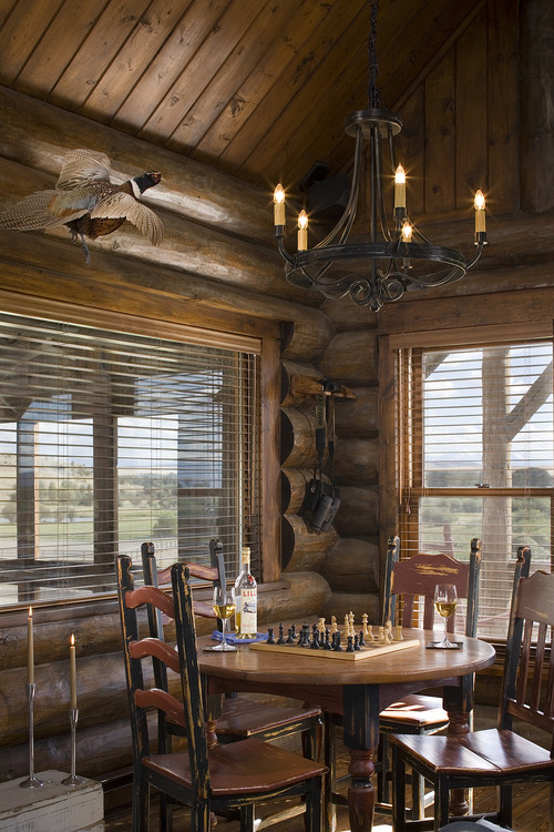 Montana mix traditional dining room