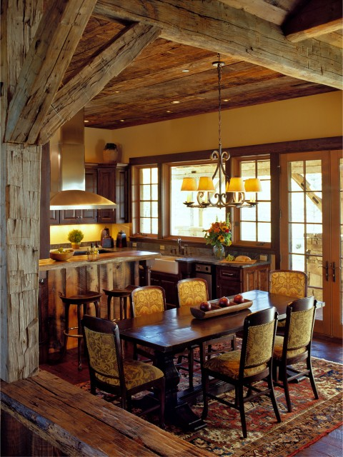 Rustic dining room for Dining room ideas rustic