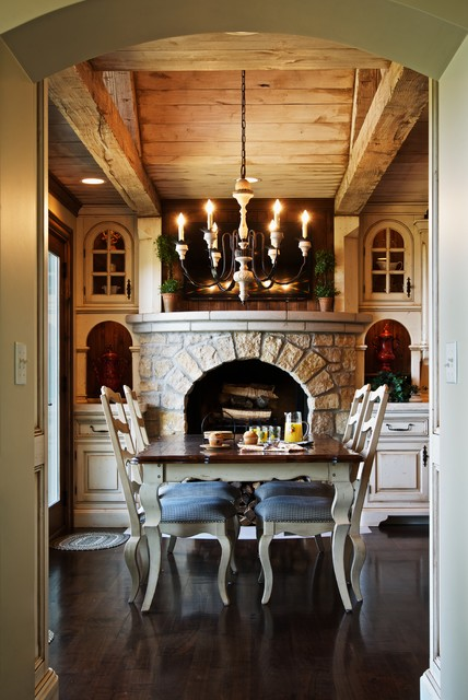 Rustic Elegance Kitchen Rustic Dining Room Chicago