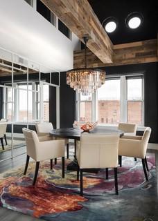 Rustic Glam Loft Dining Room