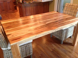 rustic hickory dining room table Traditional Dining Room