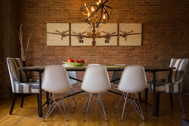 Rustic Modern Dining Room In Chicago Industrial Loft