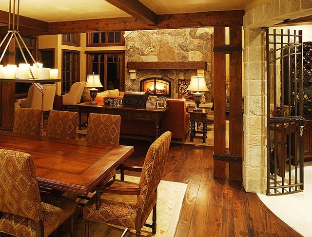 Rustic Modern Mountain Retreat - traditional - dining room - boise ...