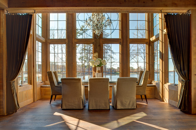 Rustic modern on lake norman rustic dining room other metro by