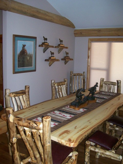 Rustic Ranch House rustic-dining-room