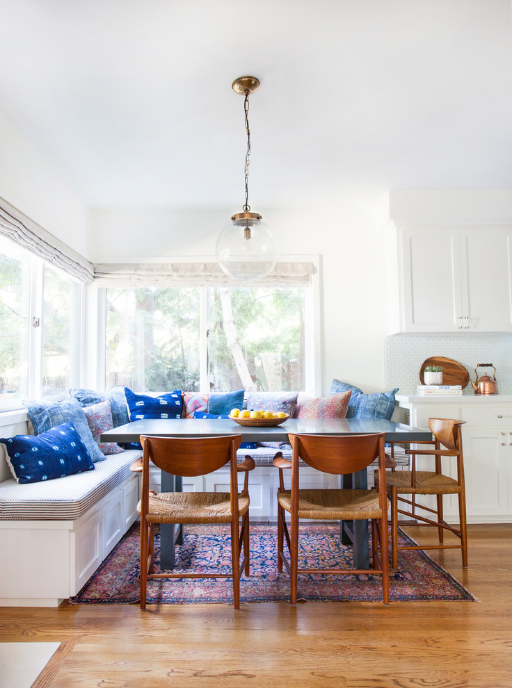 Kitchen/dining room combo - eclectic kitchen/dining room combo idea in Los Angeles