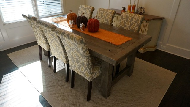 Rustic Slate Gray The Clayton Rustic Farm Dining Table Rustic
