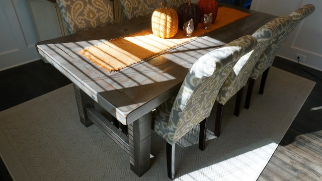 Rustic Slate Gray The Clayton Farm Dining Table
