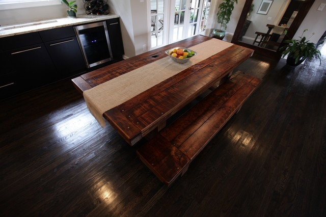 rustic trades dining tables eclectic dining room atlanta by