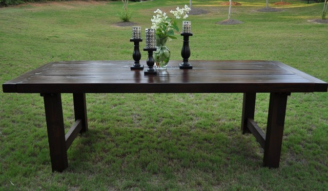 rustic trades dining tables eclectic dining room - Dining Room Tables Atlanta
