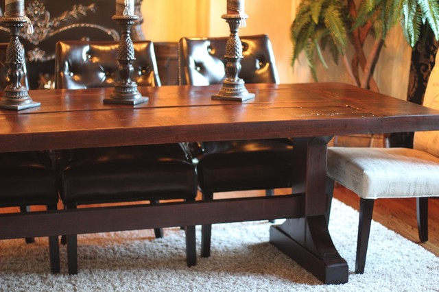 rustic trades farmhouse tables farmhouse dining room - Dining Room Tables Atlanta