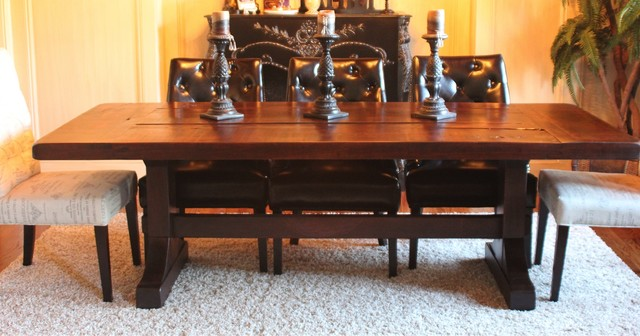 Beautiful Rustic Trades Farmhouse Tables Farmhouse Dining Room Atlanta