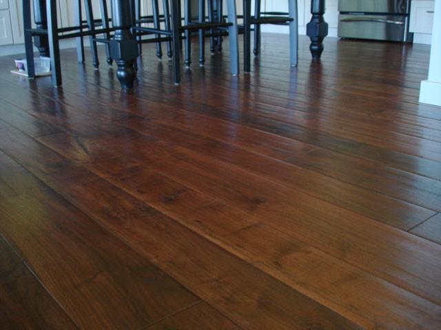 Rustic walnut heavy distress for Plantation flooring