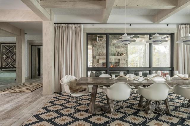Rustic zen rustic dining room other by locati for Living room design zen