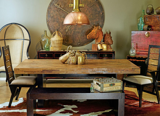 Rustic Zen Ranch - eclectic - dining room - houston - by High ...