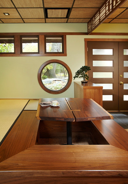 Ryokan (Japanese Guest House) Interior - Asian - Dining Room ...