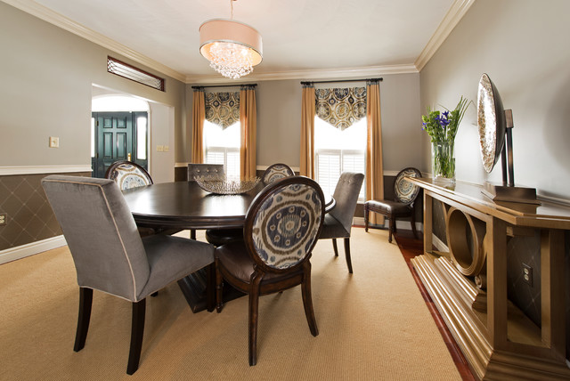 S g transitional dining room other by marcy for Dining room design questions